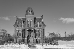 The past is alive in Brush Park (Notkalvin) Tags: brushpark detroit wealthy oldhouse oldvintage historic house home mansion brick survivor notkalvin mikekline blackandwhite structure michigan restored renovated past falshfromthepast old 19thcentury 2ndempire