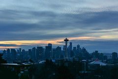 New Year's Day Seattle 1 (C.M. Keiner) Tags: seattle washington usa city cityscape skyline mountains pacific northwest puget sound 2019 new years day sunrise urban clouds silhouette