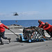 USS Blue Ridge sailors delivered supplies during a vertical replenishment