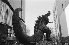 Godzilla (Adam Chin) Tags: zeissikon zeissdistagon35mm14 kodaktrix bw tokyo japan godzilla
