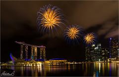 Fireworks in Singapore (AdelheidS Photography) Tags: adelheidsphotography adelheidsmitt adelheidspictures singapore fireworks night marinabay marinabaysands asia
