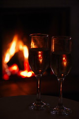New year for two (Sundornvic) Tags: fire evening glass light red loving couple