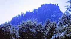 Hohenwerfen ii (zeesstof) Tags: 1969 35mmslidefilm austria erlebnisburghohenwerfen hohenwerfencastle kodachrome mamiya film fromcitytomountains geo:lat=4748383832 geo:lon=1318565442 geotagged medieval roadtrip summerholiday zeesstofsmom 900yearsofhistory