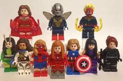 Marvel Super-Heroines (David$19) Tags: legocustomminifigures legominifigures david19 davids19 legomarvelsuperheroes femalesuperheroes superheroines superheroes marvel legomarvel lego