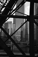 A glass tree grows in Chicago - 2019 (James J. Novotny) Tags: bridge unlimitedphotos nikon d750 chicago citylife city cityofchicago bw buildings blackandwhite downtown