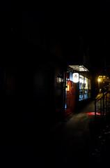 Deru kui wa utareru (The Snige) Tags: flickrfriday madeinjapan restaurant japanese food meal mealout town shrewsbury shropshire alley alleyway dark night street passage explore