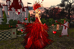 Crazy In Love irrISISTIBLE @ Swank (sitawriter) Tags: valentine heart crazy love fantasy red gown outfit sexy cloth women woman veil jewel necklace corset hud maitreya belleza slink hourglass tonic omega applier gloves balloon irrisistible shop sl secondlife second life