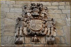 Blasón en Pesquera de Ebro (Castilla y León, España, 29-6-2011) (Juanje Orío) Tags: castillayleón provinciadeburgos pesqueradeebro 2011 españa espagne espanha espanya spain europa europeanunion europe unióneuropea escudo heráldica escultura sculpture biendeinteréscultural