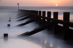 Sunrise LE (PeskyMesky) Tags: aberdeen aberdeenbeach sunrise sunset longexposure scotland water sea ocean blue groyne landscape sky