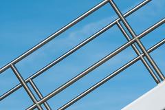 Play of  lines with handrails (Jan van der Wolf) Tags: map191305v lines lijnen lijnenspel interplayoflines playoflines handrails leuning rotterdam geometric geometry geometrisch geometrie stainlesssteel rvs roestvrijstaal