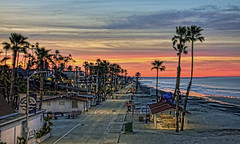 Sunrise 4-2-24-19 (rod1691) Tags: sunrise oceanside pier strand palmtrees surf beach canon50d