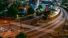 Flinders Street Lights (Derek Midgley) Tags: p1110305 evening flinders street melbourne long exposure lx100