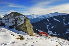 Die Bergbahn im Winter (Anna M.J.) Tags: landscape alps austrianalps mountains canon berg stein landschaft markbachjochbahn tyrol austria niederau