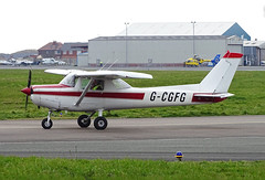 G-CGFG Cessna 152 (SteveDHall) Tags: aircraft airport aviation airfield aerodrome aeroplane airplane blackpool blackpoolairport bpl blk egnh 2019 generalaviation ga gcgfg cessna c152 cessna152