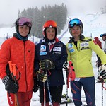 Men's super-G top 3 - 1 Johs Herland NOR; 2 Alexis Barabe CAN; 3 Tollef Jostein Haugen NOR