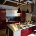 イケアでは珍しい原色カラー鏡面仕上げのキッチンの写真