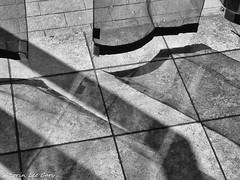 Shadows & Lines (lorinleecary) Tags: tiles shadows floor pattern monochrome blackandwhite lines curtain