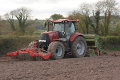 Case IH Puma 175 CVX Tractor with a Twose PF1-300 Premium Front Press, an Amazone AD303 Seed Drill & Power Harrow (Shane Casey CK25) Tags: case ih puma 175 cvx tractor twose pf1300 premium front press amazone ad303 seed drill power harrow traktor traktori tracteur trekker trator ciągnik sow sowing set setting drilling tillage till tilling plant planting crop crops cereal cereals county cork ireland irish farm farmer farming agri agriculture contractor field ground soil dirt earth dust work working horse horsepower hp pull pulling machine machinery grow growing nikon d7200 lisgoold