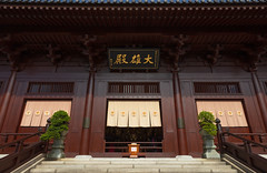 Chi Lin Nunnery (josullivan.59) Tags: 2019 asia buddism chilin china hongkong january kowloon architectural day detail gold lines nunnary old oriental outdoor outside sacred symmetrical temple travel wideangle wood hammerhill hk wallpaper 3exp texture geometric historical minimalism