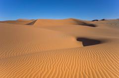 The Lonely Dunes (Trey Ratcliff) Tags: africa namibia ratcliff stuckincustomscom trey treyratcliff hdr sand dunes dune ripple waves sky blue golden