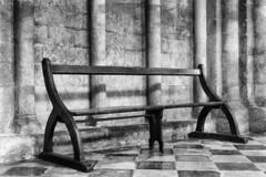 Bench (Stephen Howett) Tags: ely cathedral church bench england uk eastanglia monochrome mono blackwhite fujifilm xt3 1655mm f28