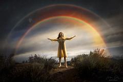 Miracles ({jessica drossin}) Tags: jessicadrossin portrait photography rainbow rain backlight sky clouds season storm wwwjessicadrossincom