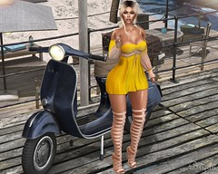 Beach Visit (Bryan Trend) Tags: head genus project classic body maitreya hair truth group gift scandalize dress top skirt heels belleza freya isis slink hourglass equal10 event female woman blogger model sl secondlife second life new post blog
