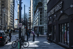 (jfre81) Tags: houston downtown main street market square pedestrians people walking sidewalk homeless vagrant corner day city metro urban scene mckinney james fremont jfre81 canon rebel xs eos walker
