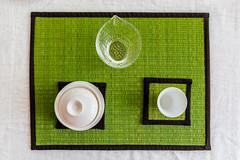 Tea time (_Franck Michel_) Tags: tea cup water green table mat teapot