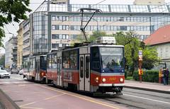 Bratislava tramway: Tatra T6A5 # 7957 (Amir Nurgaliyev) Tags: bratislavatramway dpb tatrat6a5