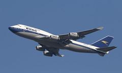 BOAC (Treflyn) Tags: british airways ba boeing 747400 747 744 gbygc retro boac overseas airline corporation livery take off london heathrow lhr airport bound boston bos