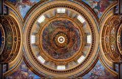 In nomine Patris (Gio_guarda_le_stelle) Tags: roma rome dome piazzanavona santagneseinagone italy light beam sun church 4x4 i