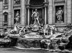 Fontana di Trevi, Rome (Northern Tony) Tags: rome roman fountain italy italia water waterfall europe eu monochrome bw blackandwhite niksoftware silverefexpro2 canon canon7dmarkii canonefs24mmf28stm cityscape city citybreak architecture monument ancient lightroom6 tourist tourism