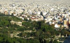 Agora view from atop the Acropolis (jimsawthat) Tags: ancient ruins agora urban vista athens greece