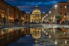 Vaticano (Basilica di San Pietro) (Elescir) Tags: vaticano vatican italy włochy basilica basilicadisanpietro water mirror watermirror ilce7rm3 ilce7r3 sel1635z
