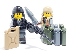 Custom LEGO Gas Can Revealed! (BrickWarriors - Ryan) Tags: custom lego minifigure minifigures brick accessories weapons armor army wwii ww2 italian guns helmets