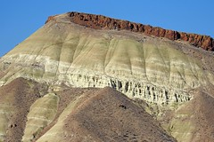 Near Painted Hills (Telephoto) (Eclectic Jack) Tags: eastern oregon trip october 2018 rural autumn fall mountains painted hills hill central blue red rock