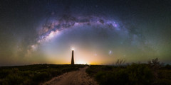 Road to the Lighthouse (ASTRORDINARY) Tags: astrophotography astronomy astro astrordinary western australia wa explore epic road stars guilderton outdoor ocean offroad perth panorama adventure amazing starscape stargazing sigma d750 gigapan galaxy nikon longexposure lighthouse lowlight nightscape night nightsky milkyway magellanic 24mm