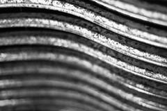 The Beauty of What Was (belleshaw) Tags: blackandwhite grandnationalroadstershow carshow classiccar grille rust metal vents curves texture detail decay damage age rough abstract