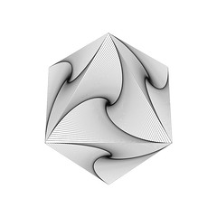 spiral-sided octahedron (chrisinplymouth) Tags: polyhedra art digital pattern cw69sym platonicbody platonicsolid digitalart cw69sq squareformat octahedron regularoctahedron symmetrical octahedral swirl line cw69x spiral design linear regular drawing shape geometry polyhedron polygon