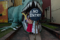 No Entry (Max Sturgeon) Tags: kolkata calcutta india dinosaur teeth noentry street streetphotography travel travelphotography