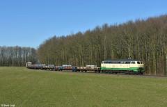 Brohltal Eisenbahn 218 396, Spellen, 27-2-2019 11:06 (Derquinho) Tags: brohltal eisenbahn 218 396 alu aluzug aluminium aliminum spellen zug trein blocks bunny koblenz v160