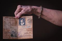 Isabel Taylor (RomxnJota) Tags: old letter postcard correo carta eos 77d yongnuo portrait tempo spain allemand seguridad documento gran bretaña wwii tiempo años identidad world war iso1000 noflash manual