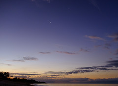 Play Ancon Sunrise with Planetary Alignment (owencherry) Tags: x100s crescent beach sunrise playaancon travel wclx100 cuba jupiter venus saturn moon 2019 fujifilm antares