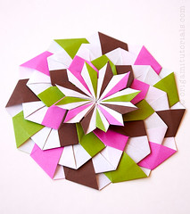Origami Fleuria Star Tutorial (Judith Magen) Tags: origami mandala star modular unitorigami