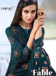 FABLE BY FIONISTA KURTI WITH PLAZZO SET WHOLESALE STORE IN SURAT