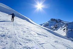 Nel Blu (Roveclimb) Tags: mountain montagna alps alpi vallese valais svizzera suisse sempione simplon ossola scialpinismo skitouring winter inverno snow schnee neve galehorn simplonpass engiloch sirvolte sirvoltesattel sirvoltesee sun sole sky cielo boshorn rauthorn