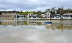 MAR_1919_00005 (Roy Curtis, Cornwall) Tags: uk cornwall truro truroriver reflection greyday river water weather urban