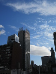 2019 February Building Cloud Reflection 2569 (Brechtbug) Tags: 2019 february afternoon light again virtual clock tower from hells kitchen clinton near times square broadway nyc 02272019 new york city midtown manhattan winter weather building breezy cloud hell s nemo southern view