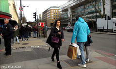`2566 (roll the dice) Tags: london westminster nw1 marylebone people fashion pretty sexy girl mad sad fun funny reaction smile angry happy urban unaware unknown uk classic art portrait stranger candid busy crowd canon tourism tourists shops shopping out weather natural wisdom dome traffic vans church cctv local stare scared rough madame